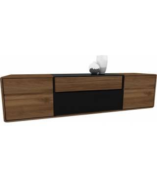 Obývací pokoj Bellis 25 Skřínka Televizní a hi-fi 2-dveřní z 2 se šuplíky - Nabytek Wanat