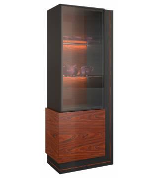 Elegante Vitrína sklo jednotlivá pravá z osvětlením - Nabytek Wanat