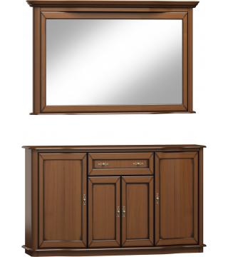 Fala [Vlna] zrcadlo L3D + komoda 4D1S - Nabytek Wanat