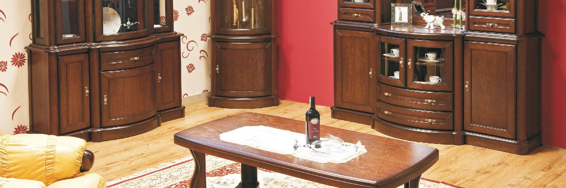 Kolekcja Mebli do Salonu Diana z Naturalnego Dębu
