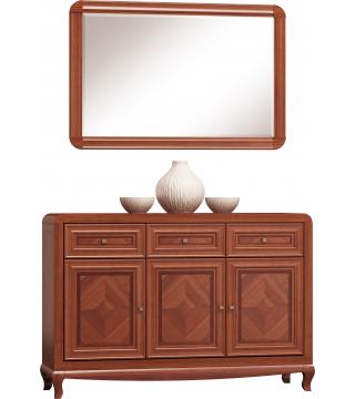 Luiza Komoda 145 3D3S + Zrcadlo - Nabytek Wanat