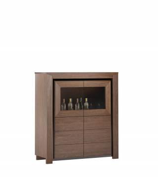 Ložnice Sempre Skřínka z domácím barem 2DS2D - Nabytek Wanat