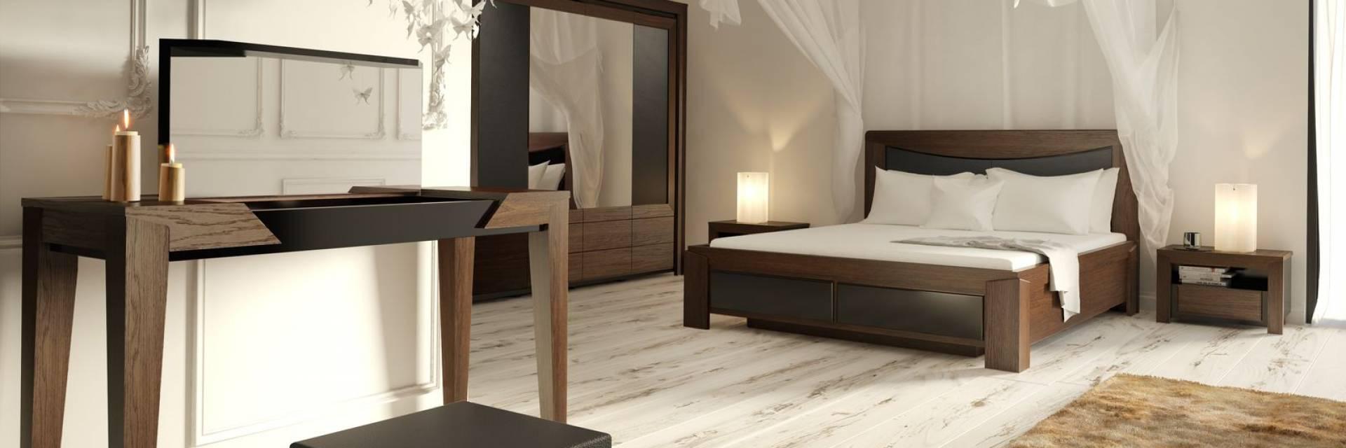 Kolekcja Mebli do Sypialni Sempre z Litego Drewna Dębowego