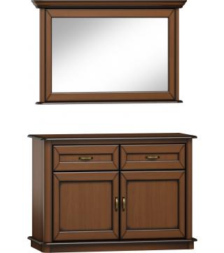 Stylowa zrcadlo L2D + komoda K2D2S - Nabytek Wanat