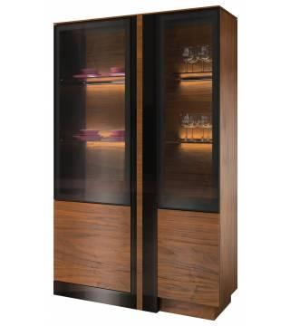 Obývací pokoj Vigo Vitrína sklo dvojitá pravá z osvětlením - Nabytek Wanat