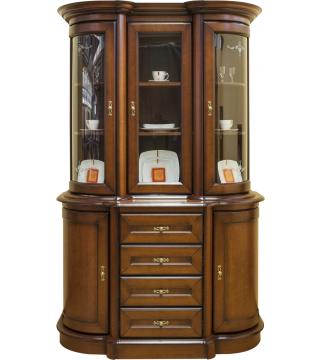 Obývací pokoj Wenus vitrína Malá WM 3D + komoda KM2D4S4 - Nabytek Wanat