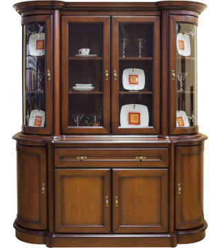 Obývací pokoj Wenus vitrína W4D + komoda K4D1S - Nabytek Wanat